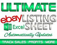 Track eBay Sales / eBay 12 Month Accounting Profit & Expense Excel Spreadsheet