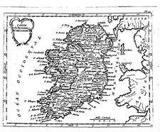 Antique map, Carte du Royaume d'Irlande