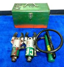 Pair Greenlee 750 751 Hydraulic Cable Cutter & 767 hand pump In metal case