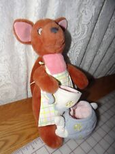 """Disney Store 11"""" Kanga Baby Roo Plush Kangaroo Winnie Pooh TEA for TWO No Joey"""