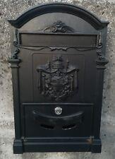 cassetta posta postale buca per lettere per esterno ghisa colore nero