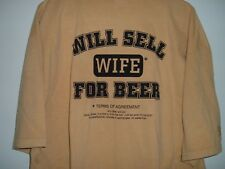 Will Sell Wife For Beer Adult 2XL T-Shirt