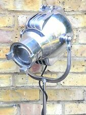 VINTAGE THEATRE FILM SPOT LIGHT STUDIO FLOOR LAMP INDUSTRIAL ANTIQUE LONDON 50'S