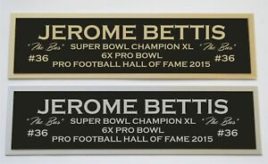 Jerome Bettis nameplate for signed jersey football helmet or photo