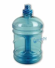 Half Gallon Teal Blue Water Sports Bottle Polycarbonate Turquoise Jug Container