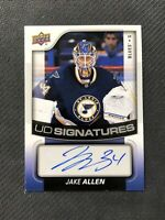 2015-16 UPPER DECK SERIES TWO JAKE ALLEN UD SIGNATURES AUTO #UDS-JA