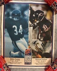 1995 FOOTBALL POSTER* WALTER PAYTON/RASHAAM SALAAM CHICAGO BEARS 11X14 PB8
