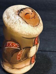 Chukchi girl selenite natural stone original painting handmade from Russia