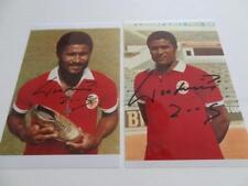 EUSEBIO SIGNED REPRINT GOLDEN BOOT SPORT LISBOA E BENFICA FC PHOTOGRAPHS