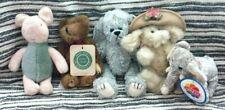 Lot Of 5 Teddy Bears & Friends Assortment ~ Boyd ~ Gund ~ Ty ~ Nanco ~ Piglet