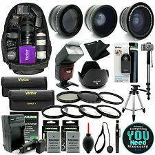 Nikon D3200 D3300 D5200 D5300 DSLR Camera Everything You Need Accessory Kit