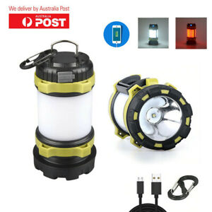 Camping Lamp LED Waterproof USB Rechargeable Flashlight Emergency Searchlight