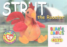 Ty Beanie Babies Bboc Card - Series 2 Common - Strut the Rooster - Nm/Mint