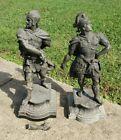 LARGE 24' Roman Warrior Soldier Spelter Gladiator Statue Pair SUPER COOL!!!