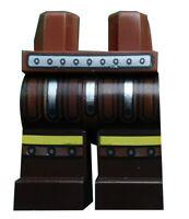 Lego Beine dunkelbraun + dunkelblau für Minifigur 970c120pb09 Gürtel silber Neu