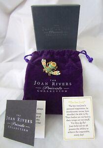 JOAN RIVERS BEE PIN Cloisonné Enamel Swarovski Crystals w/Box Pouch PamphletsNEW