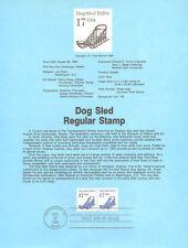 #8621 17c Dog Sled Coil Stamp #2135 USPS Souvenir Page