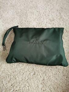 Rolex Authentic Forest Green Nylon Duffel Sport Bag NEW