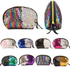 Womens Sequins Mermaid Glitter Bag Storage Make Up Accessories Bag Pouch Handbag