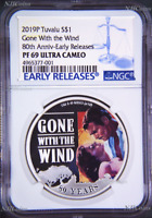 2019 Gone With The Wind 80th Anniversary Proof $1 1oz Silver COIN NGC PF 69 ER