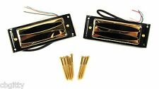DeVille Hot-Rod GOLD Mini Humbucker Pickups - Matched Set with Mounting Rings