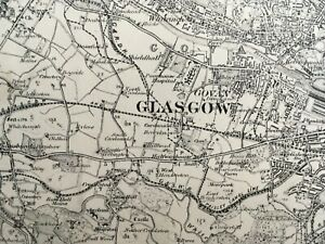 1905 Edition Topographical Map of Glasgow and the Firth of Clyde - Sheet 30