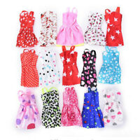 2017 Fashion Handmade Dolls Accessories For Doll Clothing Gown 10PCs