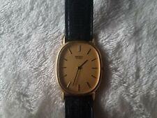 Vintage Thin Seiko Quartz 6020-5679 R Gold Tone Watch