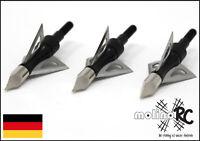 Jagdspitzen Spitzen f Armbrust Bogen 4-Klingen Top-Qualität Neu OVP