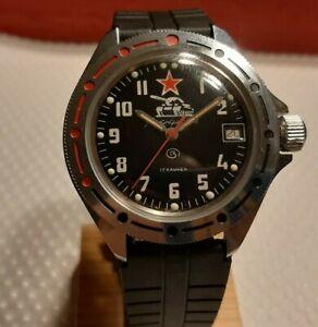 Vostok Boctok Komandirskie tank vintage manual ussr cccp russian watch 2414