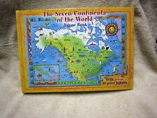 Seven Continents of the World Jigsaw Puzzle Book Complete w/seven 48-Piece Puzzl