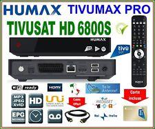 TIVUSAT HUMAX TIVUMAX HD 6800S DÉCODEUR SATELLITE CHAÎNE ITALIENNE CARTE ACTIVÉ