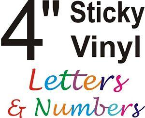4 inch Sticky vinyl letters