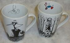 Disney Gallery Nightmare Before Christmas Cups Mugs Jack Skellington Sally Rare