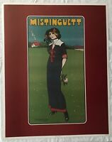 BEAUTIFUL RARE VINTAGE ART DECO PRINT POSTER BY DANIEL DE LOSQUES MISTINGUETT