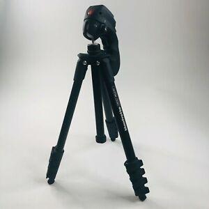 Manfrotto Compact Tripod Camera Mount Holder Swivel Head Pan Tilt MKC3-H01 Black