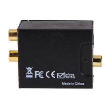 Digital Optical Coax Coaxial Toslink to Analog RCA L/R Converter Adapter L&6