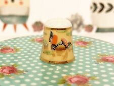 Mandarin Duck Porcelain Thimble by Akemi Japan Collector's Club  7E