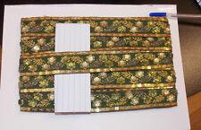 Verde Oliva Joya del grano con lentejuelas Indio Boda Baile Disfraz cinta de diamantes de imitación