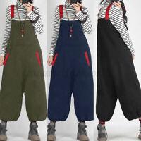 ZANZEA Femme Combinaison Pantalon lanterne Collège Loisir Ample Sans Manche Plus