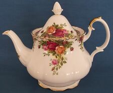 Royal Albert Old Country Roses BONE CHINA Teiera 2 3/4 pinte Inghilterra 1962 fa risalire
