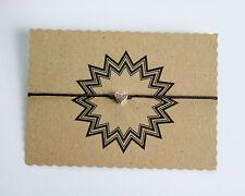 Herz Glücksarmband Glücksbringer Armband Tibet Silber Braun verstellbar 25 cm