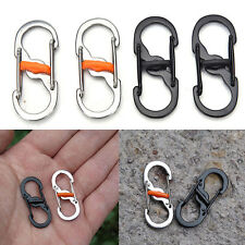 Mini Outdoor Stainless Steel Spring Snap Clip Climbing Buckle Carabiner Refined