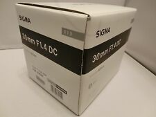 Brand NEW  Sigma 30mm F1.4 DC HSM / Art  Black Lens for Nikon F  Mount Cameras