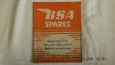 BSA 1954 MODELS 250cc S.V & 250cc OHV RIGID & SPRING FRAMES  W6