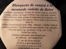 Blanquette de Canard a la moutarde violette de Brive poids net 540 g