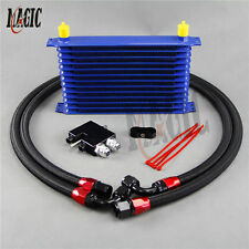 Oil Cooler kit for BMW N54 twin turbo 135i (E82) 335i (E90.E92.E93)13 row blue