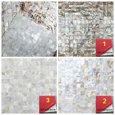 DIY Self Adhesive Colorful Shell Mosaic Kitchen Backsplash Tile Wall Art 30*30cm