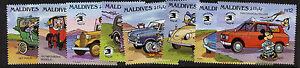 Maldives 1346-55 MNH Disney, Vintage Cars