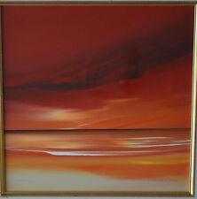 Jonathan Shaw enumerados Artista Pintura Original impresionante cielo rojo y amarillo